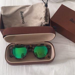 Illesteva Tortoise Mirrored Leonard Sunglasses